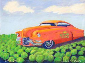 "Lime Crush 24"" x 36"" – Pastel Original – $1416 – Framed"
