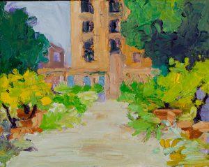 "Rome Park 8"" x 10"" - Oil Original - $500 - Framed"