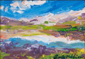 """Abruzzo Mountains 6""""x 8"""" – Oil Original – $250 – Framed"""