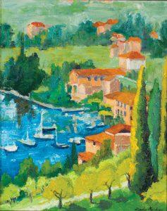 "Northern Italian Town 20"" x 16"" - Oil Original - $416 - Framed - SOLD"