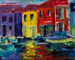 "Venice 8"" x 10"" - Oil Original - $416 - Framed - SOLD"
