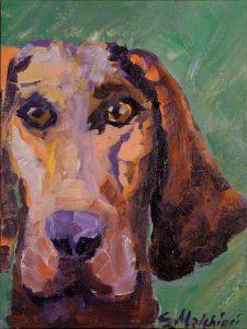 "Hound 8"" x 10"" – Acrylic Original – $500"