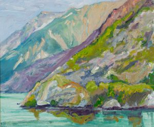 "Glacier Bay (1) 30"" x 30"" – Oil Original – $916 – Framed"