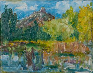 "Glaze Meadow Pond 8"" x 10"" – Oil Original – $375"