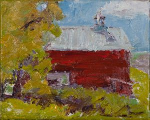 "Joseph Barn (1) - 8"" x 10"" - Oil Original - $416 - Framed"
