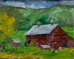 "Joseph Barn (2) - 8"" x 10"" - Oil Original - $416 - Framed"