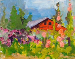 "Rainshadow Potato Barn 8"" x 10"" - Oil Original - $416 - Framed"