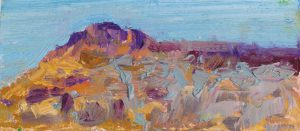 "Steens Plateau 3"" x 6.5"" - Oil Original - $250 - Framed"