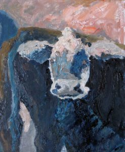 "Close Cow 20""x 16"" – Oil Original – $666 – SOLD"
