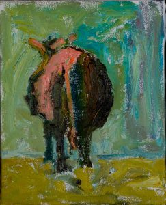 "From Behind 10"" x 8"" – Oil Original – $167"