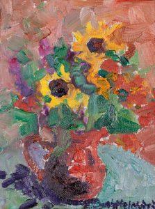 "Sunflower Study 8"" x 6"" – Oil Original – SOLD"