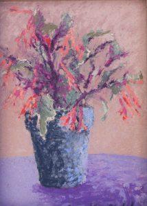"Variegated Fuchsia 8"" x 6"" – Pastel Original – $250"