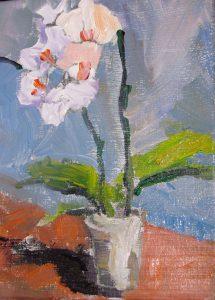 "White Orchid 10"" x 8"" – Oil Original – $333"