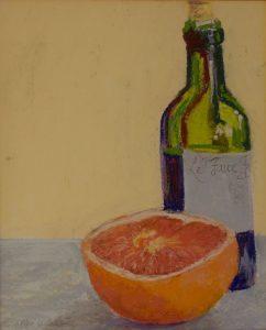 """Grapefruit Bottle & French Bottle 30"""" x 30"""" – Oil Original – SOLD"""