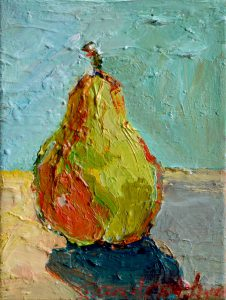 "Pear Study 10"" x 8"" – Oil Original – $250"