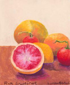 "Grapefruit and Tomatoes 14"" x 11"" - Pastel Original - $375 - Framed"