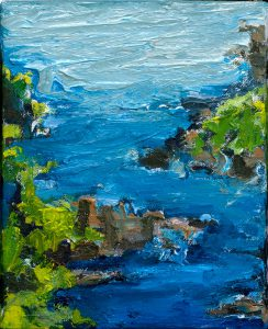 "Hana Water 10"" x 8"" – Oil Original – $250"