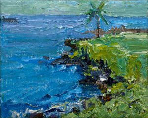 "From Black Beach 8"" x 10"" – Oil Original – $250"