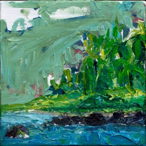 "Hana Beach 6"" x 6"" – Oil Original – $250"