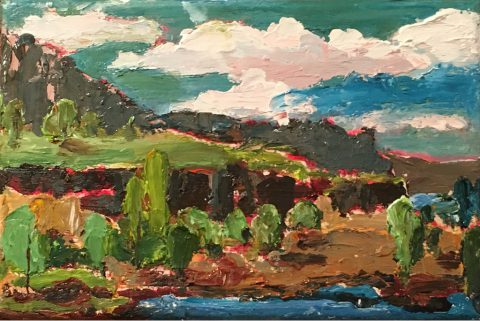 "The Columbia Gorge 6"" x 8"" – Oil Original - $167"