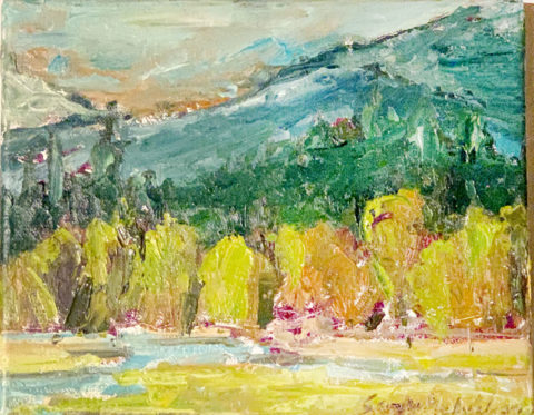 "Black Butte Ranch Wetland 4 - 8"" x 10"" – Oil Original - $333"