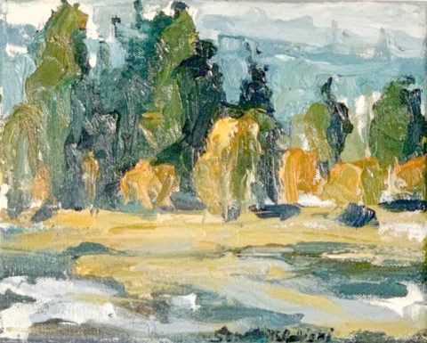 "Black Butte Ranch Wetland 5 - 8"" x 10"" – Oil Original - $333"